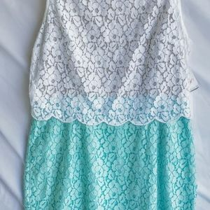 Two toned lace dress